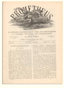 Prometheus : Illustrirte Wochenschrift über die Fortschritte in Gewerbe, Industrie und Wissenschaft. 6. Jahrgang, 1895, Nr 307