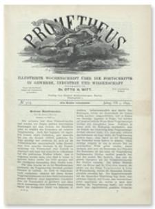 Prometheus : Illustrirte Wochenschrift über die Fortschritte in Gewerbe, Industrie und Wissenschaft. 7. Jahrgang, 1895, Nr 315