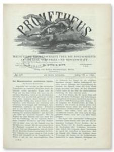 Prometheus : Illustrirte Wochenschrift über die Fortschritte in Gewerbe, Industrie und Wissenschaft. 7. Jahrgang, 1896, Nr 338