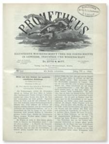 Prometheus : Illustrirte Wochenschrift über die Fortschritte in Gewerbe, Industrie und Wissenschaft. 7. Jahrgang, 1896, Nr 341