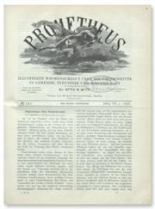 Prometheus : Illustrirte Wochenschrift über die Fortschritte in Gewerbe, Industrie und Wissenschaft. 7. Jahrgang, 1896, Nr 343
