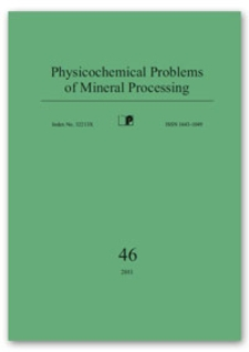 Physicochemical Problems of Mineral Processing, nr 46 (2011)