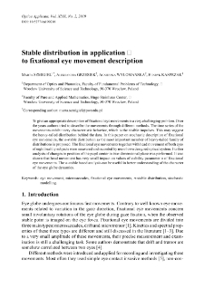 Stable distribution in application to fixational eye movement description