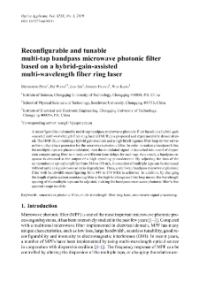 Reconfigurable and tunable multi-tap bandpass microwave photonic filter based on a hybrid-gain-assisted multi-wavelength fiber ring laser