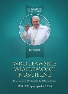 Wrocławskie Wiadomości Kościelne. R. 69 (2016), nr 2