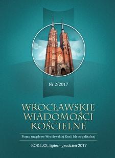Wrocławskie Wiadomości Kościelne. R. 70 (2017), nr 2