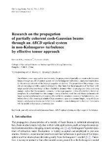 Research on the propagation of partially coherent cosh-Gaussian beams through an ABCD optical system in non-Kolmogorov turbulence by effective tensor approach