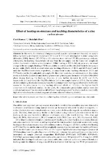 Effect of heating on structure and leaching characteristics of a zinc carbonate ore