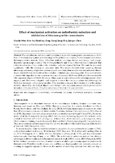 Effect of mechanical activation on carbothermic reduction and nitridation of titanomagnetite concentrates