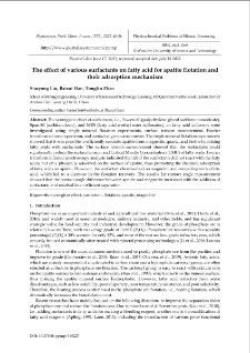 The effect of various surfactants on fatty acid for apatite flotation and their adsorption mechanizm