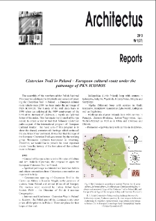 Cistercian Trail in Poland - European cultural route under the patronage of PKN ICOMOS