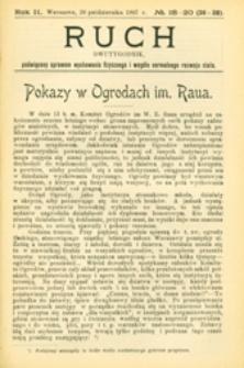 Ruch :  dwutygodnik, poświęcony sprawom wychowania fizycznego i w ogóle normalnego rozwoju ciała, 1906.12.26 R. 1 nr 18