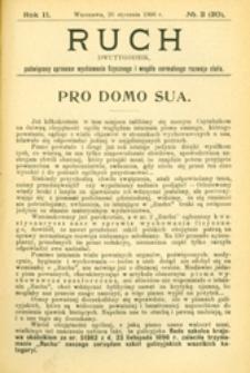 Ruch : dwutygodnik, poświęcony sprawom wychowania fizycznego i w ogóle normalnego rozwoju ciała, 1907.01.26 R. 2 nr 2 (20)