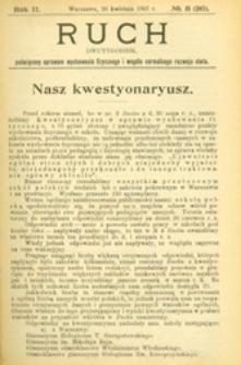 Ruch : dwutygodnik poświęcony sprawom wychowania fizycznego i w ogóle normalnego rozwoju ciała, 1907.04.26 R. 2 nr 8 (26)