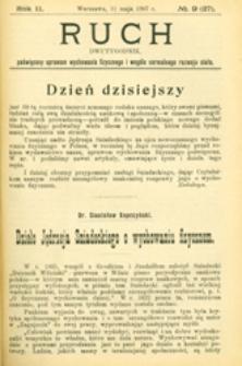 Ruch : dwutygodnik poświęcony sprawom wychowania fizycznego i w ogóle normalnego rozwoju ciała, 1907.05.11 R. 2 nr 9 (27)