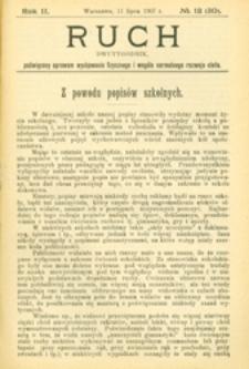 Ruch : dwutygodnik poświęcony sprawom wychowania fizycznego i w ogóle normalnego rozwoju ciała, 1907.07.11 R. 2 nr 12 (30)