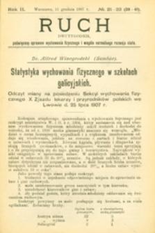 Ruch : dwutygodnik, poświęcony sprawom wychowania fizycznego i w ogóle normalnego rozwoju ciała, 1907.12.11 R. 2 nr 21-23 (39-41)