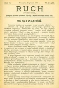 Ruch : dwutygodnik, poświęcony sprawom wychowania fizycznego i w ogóle normalnego rozwoju ciała, 1907.12.26 R. 2 nr 24 (42)