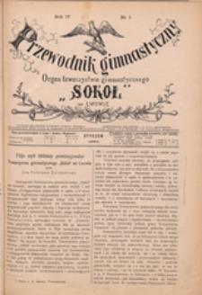 """Przewodnik Gimnastyczny :  organ Towarzystwa Gimnastycznego """"Sokół"""" we Lwowie, 1884 R. 4 nr 1"""