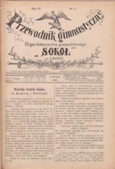 """Przewodnik Gimnastyczny : organ Towarzystwa Gimnastycznego """"Sokół"""" we Lwowie, 1884 R. 4 nr 7"""