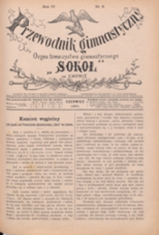 """Przewodnik Gimnastyczny : organ Towarzystwa Gimnastycznego """"Sokół"""" we Lwowie, 1885 R. 5 nr 6"""