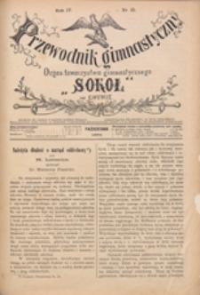 """Przewodnik Gimnastyczny : organ Towarzystwa Gimnastycznego """"Sokół"""" we Lwowie, 1885 R. 5 nr 10"""