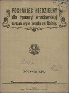 Posłaniec Niedzielny dla Dyecezyi Wrocławskiej. R. 14, 1908, nr 20