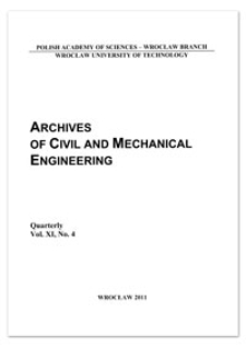 Archives of Civil and Mechanical Engineering, Vol. 11, 2011, Nr 4
