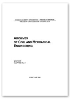 Archives of Civil and Mechanical Engineering, Vol. 8, 2008, Nr 3