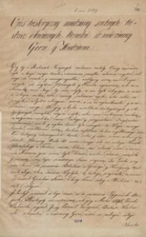 Opis historyczny miedziany[ch], srebrnych tudzież ołowianych kopalni w Miedzianey Górze y Miedziance