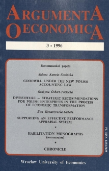 The essence of income approach in business appraisals. Argumenta Oeconomica, 1995, No 1, s. 75-79