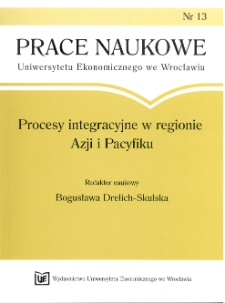 Powiązania sieciowe przedsiębiorstw w regionie Azji i Pacyfiku. Prace Naukowe Uniwersytetu Ekonomicznego we Wrocławiu, 2008, Nr 13, s. 182-194