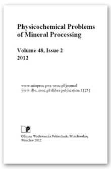 Physicochemical Problems of Mineral Processing. Vol. 48, 2012, Issue 2