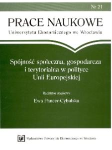 Spójność ekonomiczna Unii Europejskiej w świetle współczesnych przemian kulturowo-cywilizacyjnych. Prace Naukowe Uniwersytetu Ekonomicznego we Wrocławiu, 2008, Nr 21, s. 11-24