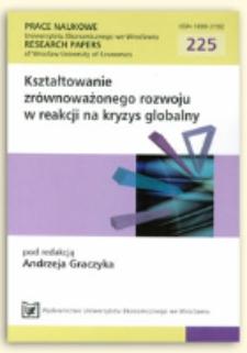 Zrównoważony rozwój obszarów wiejskich w strategiach partnerstw terytorialnych. Prace Naukowe Uniwersytetu Ekonomicznego we Wrocławiu = Research Papers of Wrocław University of Economics, 2011, Nr 225, s. 131-143