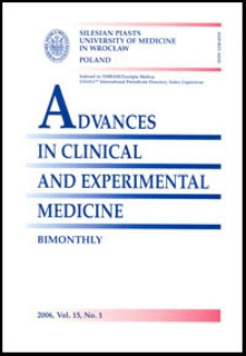 Advances in Clinical and Experimental Medicine, Vol. 15, 2006, nr 1