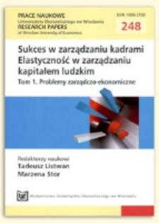 Kariera nietradycyjna: alternatywne wzory zaangażowania zawodowego. Prace Naukowe Uniwersytetu Ekonomicznego we Wrocławiu = Research Papers of Wrocław University of Economics, 2012, Nr 248, s. 317-325