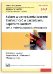 Elastyczność i dzielenie się wiedzą, czyli w poszukiwaniu idealnego przywódcy. Prace Naukowe Uniwersytetu Ekonomicznego we Wrocławiu = Research Papers of Wrocław University of Economics, 2012, Nr 249, s. 139-147