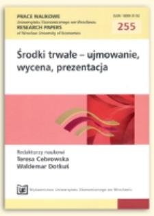 Środki trwałe i ich zużycie w cyklu życia produktu. Prace Naukowe Uniwersytetu Ekonomicznego we Wrocławiu = Research Papers of Wrocław University of Economics , 2012, Nr 255, s. 13-27