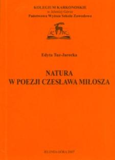 Natura w poezji Czesława Miłosza