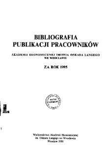 Bibliografia publikacji praconików nauki Wyższej Szkoły Ekonomicznej we Wrocławiu za lata 1963-1968