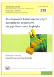 Wybrane aspekty optymalizacji prognoz kombinowanych. Prace Naukowe Uniwersytetu Ekonomicznego we Wrocławiu = Research Papers of Wrocław University of Economics, 2011, Nr 238, s. 351-364