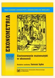 Próba weryfikacji teorii parytetu siły nabywczej na przykładzie kursów wybranych walut. Prace Naukowe Uniwersytetu Ekonomicznego we Wrocławiu, 2009, Nr 76, s. 149-159