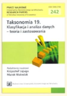 Zastosowanie metod analizy danych symbolicznych w przeszukiwaniu dziedzinowych baz danych. Prace Naukowe Uniwersytetu Ekonomicznego we Wrocławiu = Research Papers of Wrocław University of Economics, 2012, Nr 242, s. 333-341