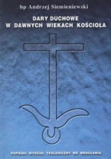 Dary duchowe w dawnych wiekach Kościoła