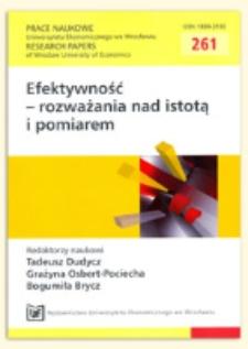 Przejawy i uwarunkowania efektywności controllingu w przedsiębiorstwie. Prace Naukowe Uniwersytetu Ekonomicznego we Wrocławiu = Research Papers of Wrocław University of Economics, 2012, Nr 261, s. 25-37