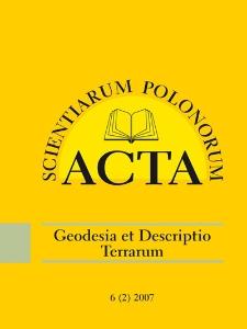Acta Scientiarum Polonorum. Geodesia et Descriptio Terrarum 2, 2007