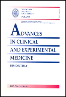 Advances in Clinical and Experimental Medicine, Vol. 14, 2005, nr 6