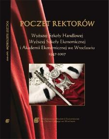 Poczet rektorów Wyższej Szkoły Handlowej, Wyższej Szkoły Ekonomicznej i Akademii Ekonomicznej we Wrocławiu 1947-2007