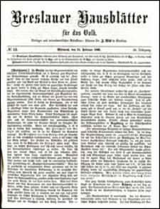 Breslauer Hausblätter für das Volk. Jg. 4, Nr. 13 (1866)